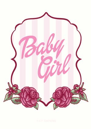 Baby girl card Baby Girl 01