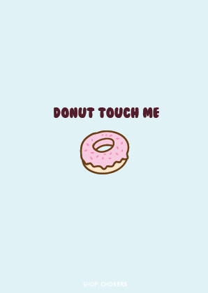 Donut touch me card Donut touch me 01 01