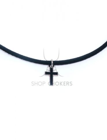 blackcrossthin1 Color cross thin choker blackcrossthin1 1 370x480