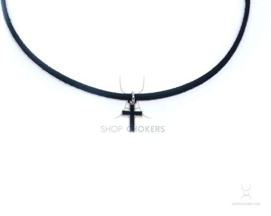 Color cross thin choker blackcrossthin1 1 550x440