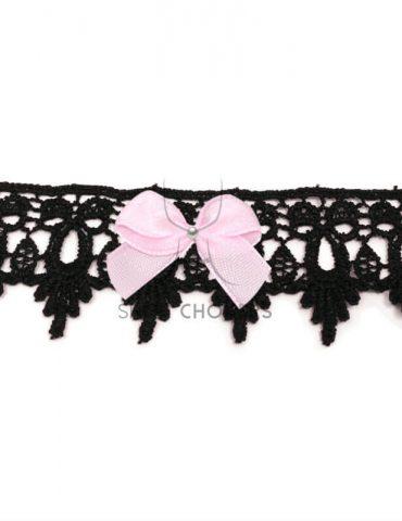 blacklacepink Bold lace bow choker blacklacepink 1 370x480