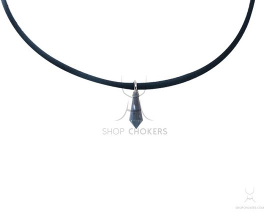 Blue diamond stone thin choker bluediamond1 1 550x440
