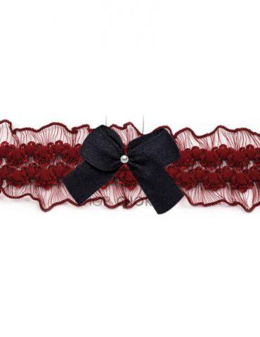 bordeauxfrillyblack Bordeaux frilly bow choker bordeauxfrillyblack 2 370x480