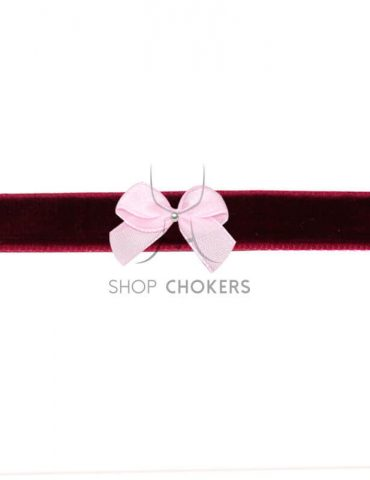 bordeauxpinkbow Bordeaux bow choker bordeauxpinkbow 1 370x480
