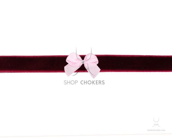 Bordeaux bow choker bordeauxpinkbow 1 550x440