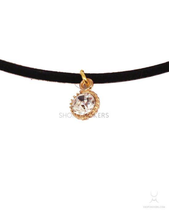 Small diamond choker goldsmalldiamond1 550x688