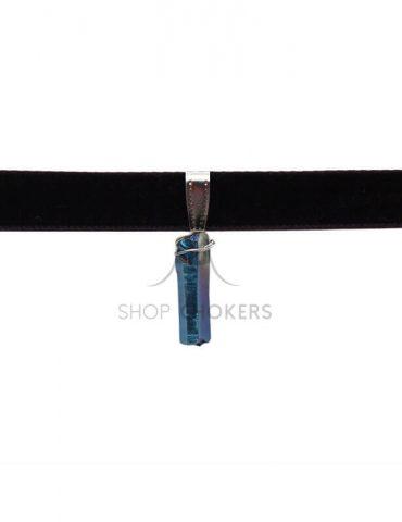metallicblue Metallic blue stone thick choker metallicblue 1 370x480