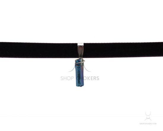 Metallic blue stone thick choker metallicblue 1 550x440