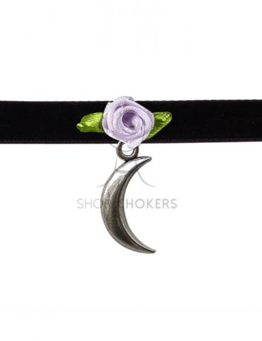 moonrosepurpleleaves Moon rose choker moonrosepurpleleaves 1 370x480