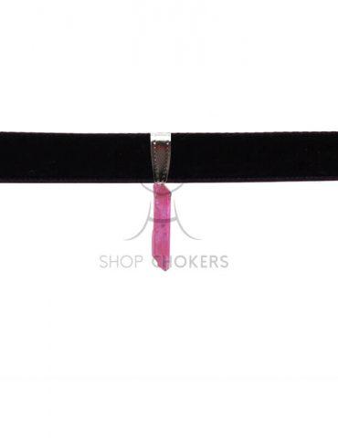 pinkcrystal1 Pink crystal stone thick choker pinkcrystal1 1 370x480