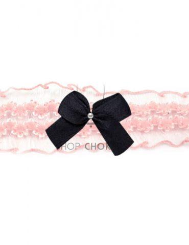 pinkfrillyblack Pink frilly bow choker pinkfrillyblack 1 370x480