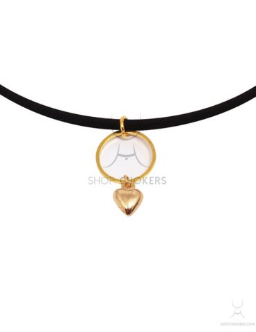 ringheartgoldthin hanging heart thin choker Hanging heart thin choker ringheartgoldthin 1 370x480