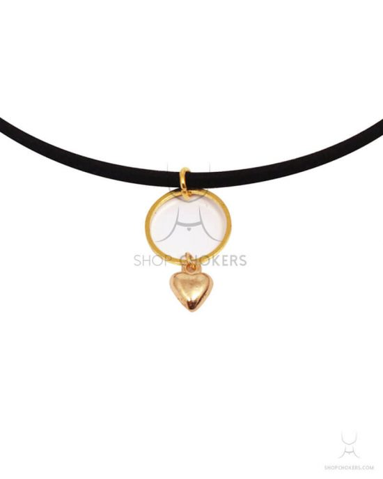 hanging heart thin choker Hanging heart thin choker ringheartgoldthin 1 550x688
