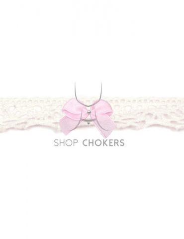 smallwhitelacepink Small white lace bow choker smallwhitelacepink 370x480