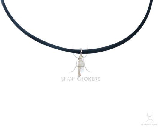 White crystal stone thin choker whitecrystal 1 550x440