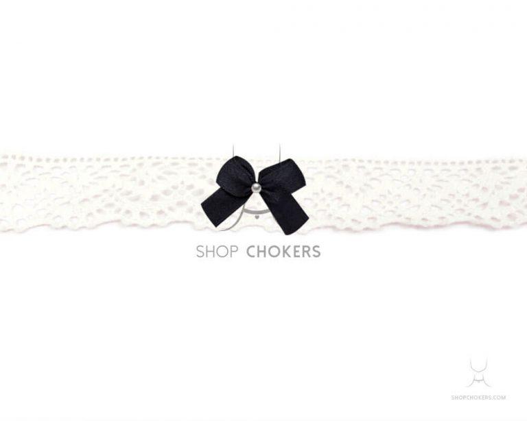 whitelacebowchokerblack