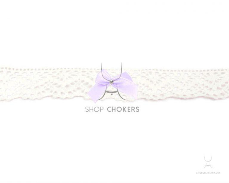 whitelacebowchokerpurple