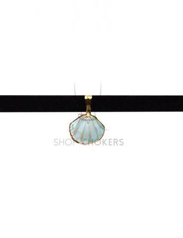 shellchoker Turquoise shell choker shellchoker 370x480