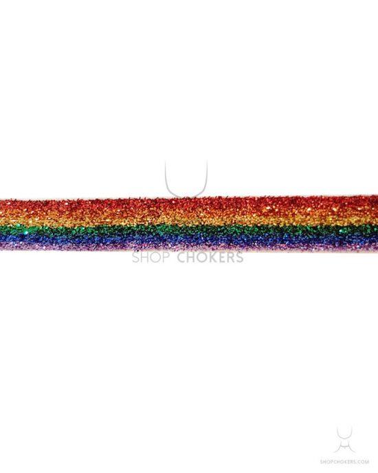 Gay pride rainbow glitter choker GLITTER RAINBOW 550x688