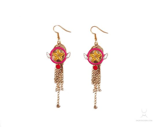 Gold Mahou Shoujo earrings magicalgirl 550x440