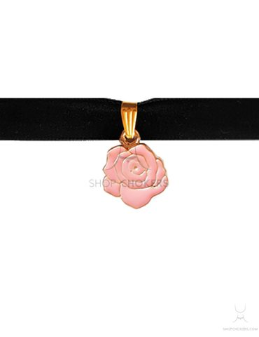 ShopChokers_Product_PinkRose Pink rose choker ShopChokers Product PinkRose 370x480