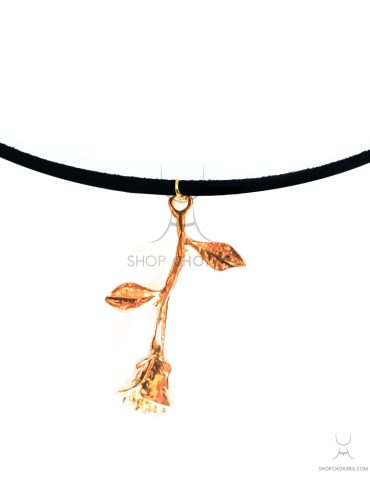 ShopChokers_Product_Universe_GoldRoseBigThin Belle gold rose thin choker ShopChokers Product Universe GoldRoseBigThin 370x480