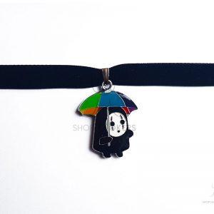 babynofacerainbowumbrella