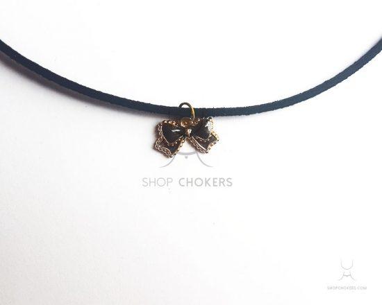 Black bow thin choker bowblackthin 550x440