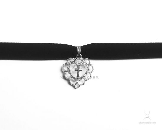 Cute cross silver thick choker cutecrossthicksilver 550x440