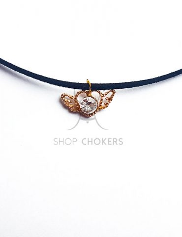 sailormoonwhitethin Sailor Moon silver heart thin choker sailormoonwhitethin 370x480