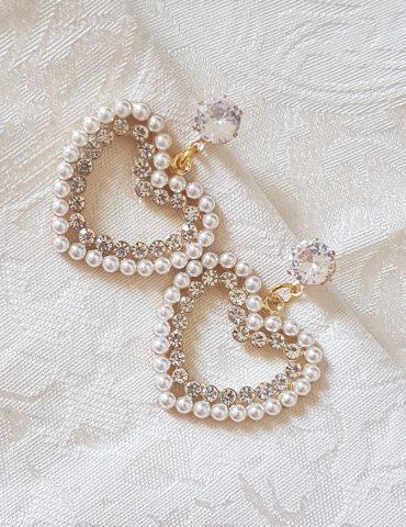 DiamondHeart sweet heart diamond heart earrings Sweet heart diamond heart earrings DiamondHeart 370x480