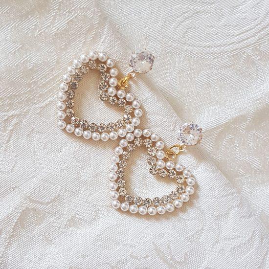 sweet heart diamond heart earrings Sweet heart diamond heart earrings DiamondHeart 550x550