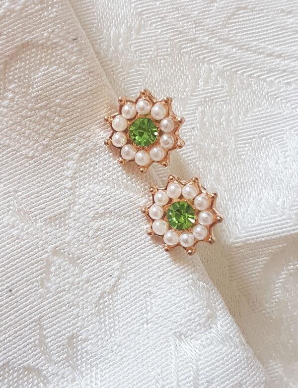 green-gold-flower-earrings