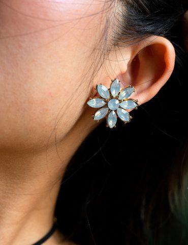 light blue earring