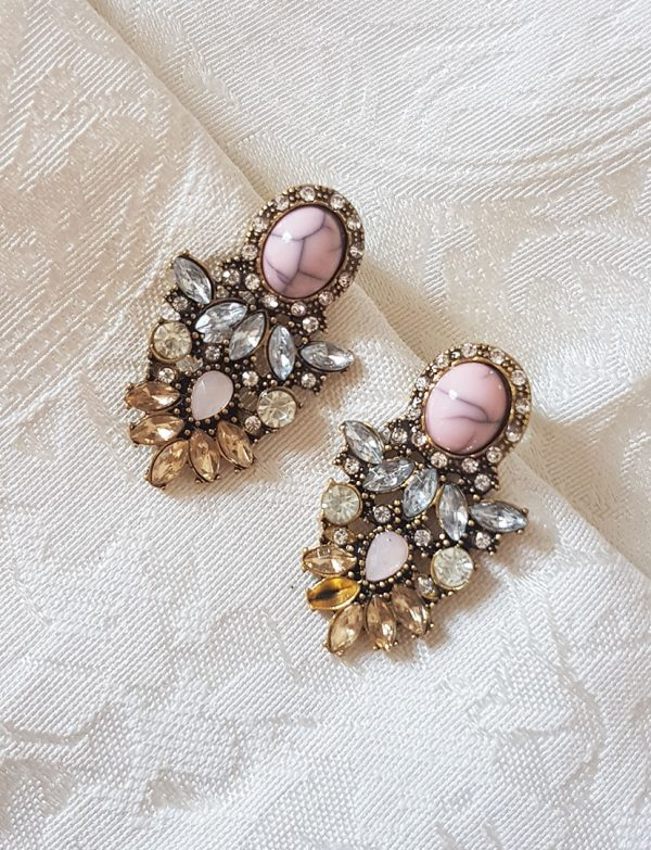 pink-diamond-gold-statement-earrings