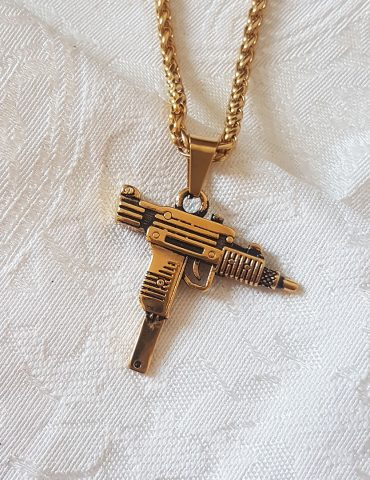 uzi-gun-necklace-gold