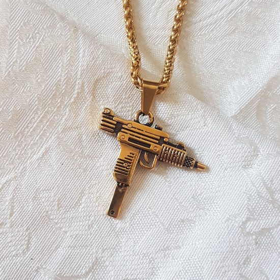 uzi-gun-necklace-gold