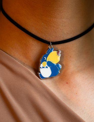 Blue totoro thin choker