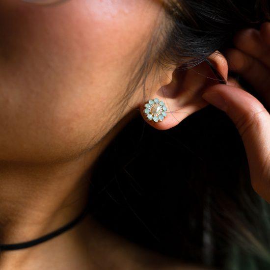 blue small earrings